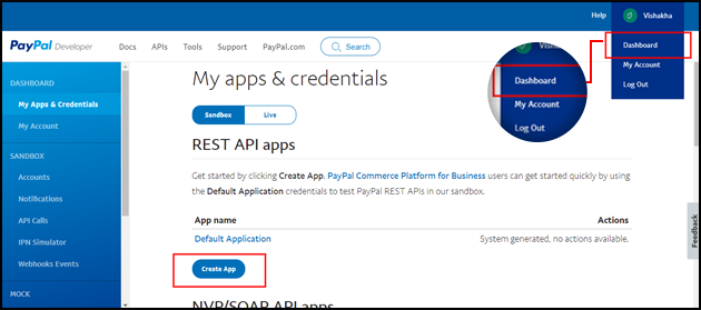 Create-app-paypal-id